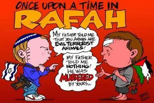 حوار بين طفل فلسطيني وآخر يهودي karekater327.jpg
